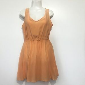 Amanda Uprichard SIlk Dress Size Small Cross Back